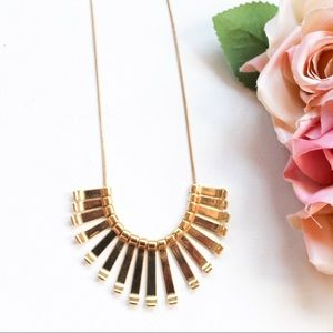LC Lauren Conrad Gold Tone Fringe Necklace